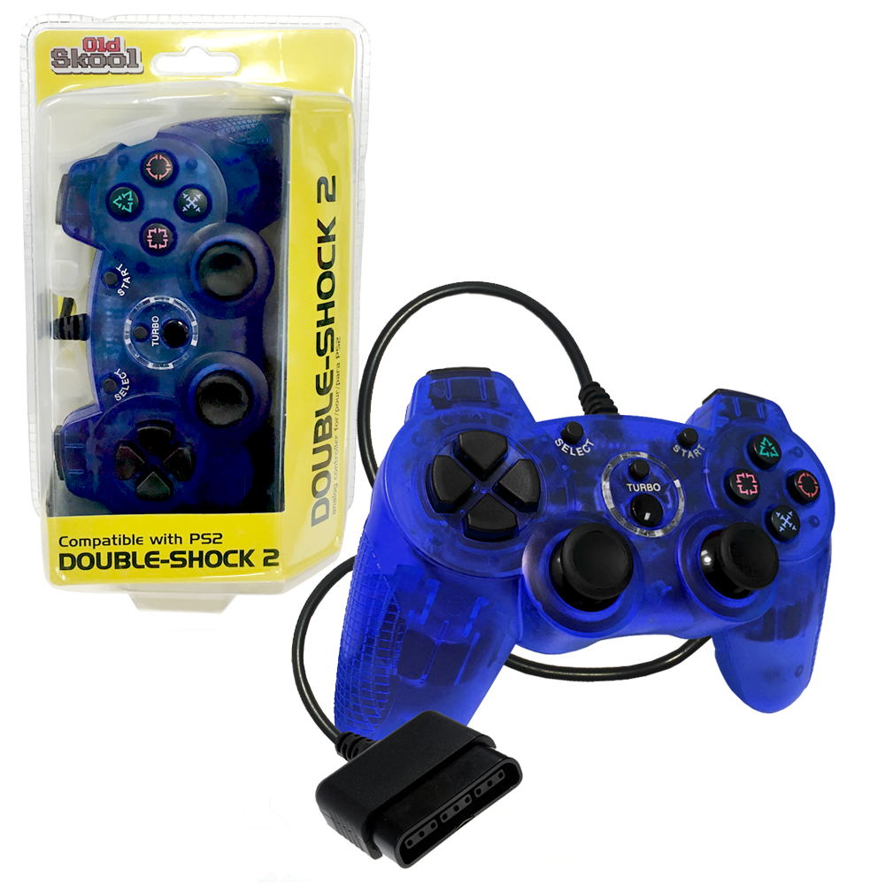 PS2 Wired DOUBLE-SHOCK 2 Controller (BLUE)