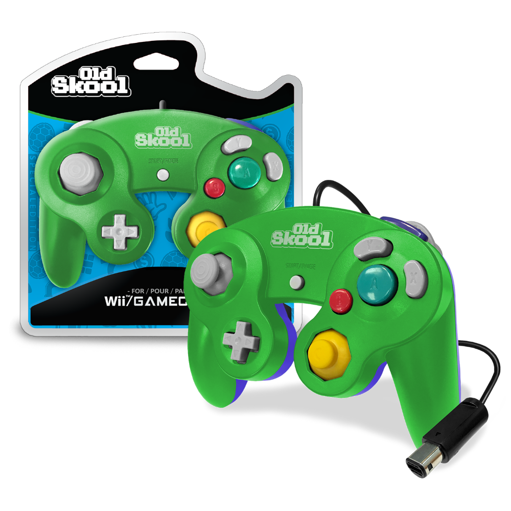 GameCube / Wii Compatible Controller - GREEN/BLUE