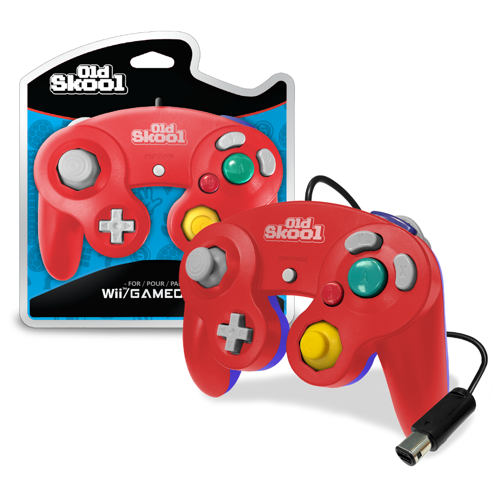 GameCube / Wii Compatible Controller - RED/BLUE