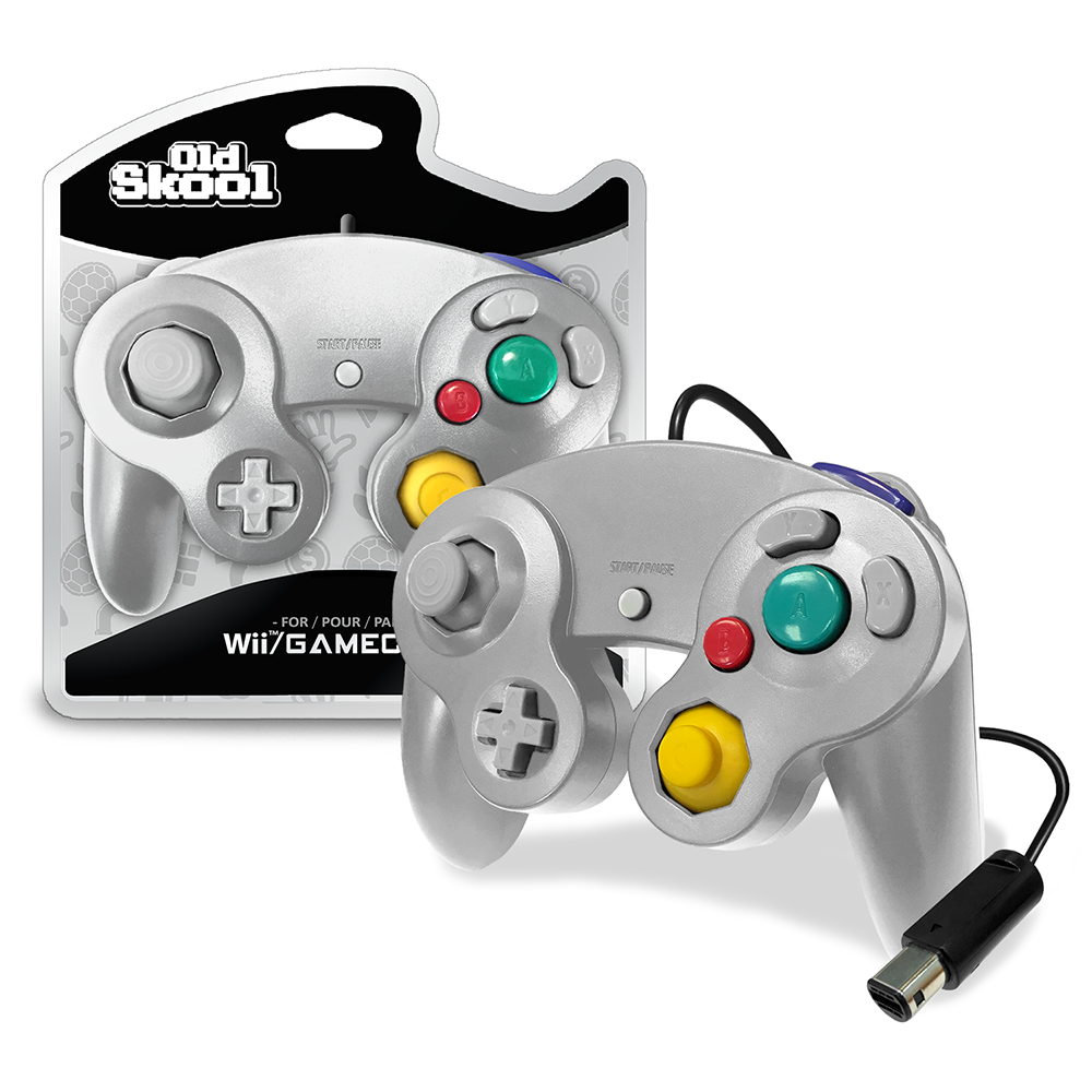 GameCube / Wii Compatible Controller - SILVER