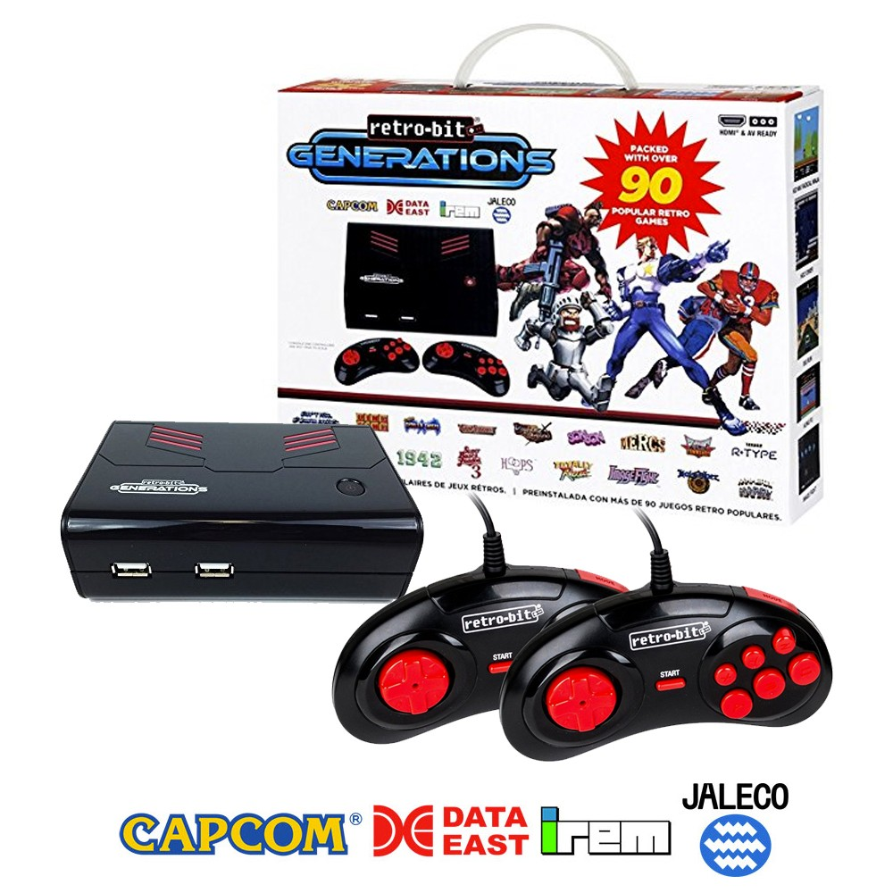 Retro-Bit Generations - Plug and Play Game Console Red/Black Over 100+ Retro Games