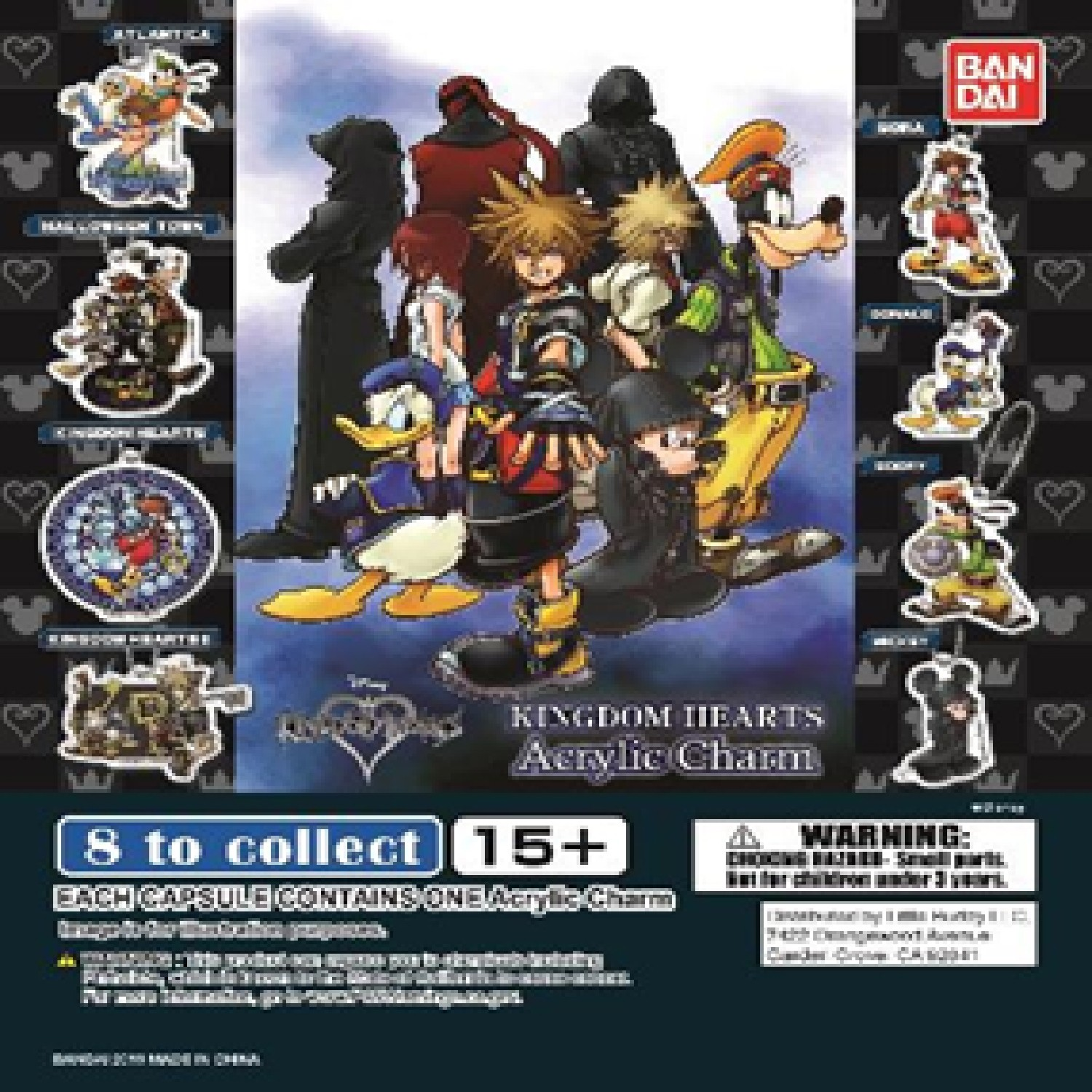 Gashapon! Kingdom Hearts Acrylic Key Chain Capsules - [50 Capsules]