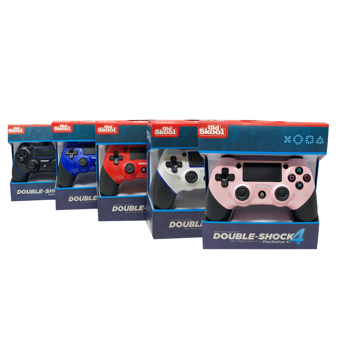 PS4 WIRELESS DOUBLE-SHOCK 4 CONTROLLERS (5-PACK)