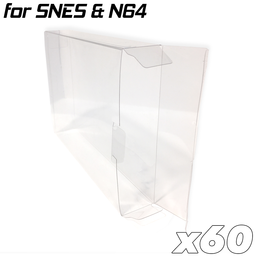 Game Box Protective Sleeve For N64 & SNES (60x)