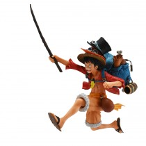 One Piece Three Brothers Monkey D. Luffy Figure