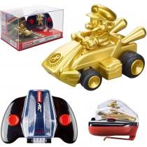 Nintendo Mario Kart Mini Collectible Remote Control Car - Mario - Gold