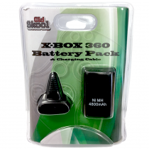 Xbox 360 Play N Charge Kit Battery and Charging Cable - Black