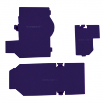 Gamecube Console Bottom Door - Purple