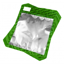 50 Pack of Green Resealable Bags (Large)