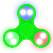 LED Fidget Spinner (GREEN)