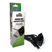Wireless Controller Charging Cable for MicroSoft xBox 360 - Black