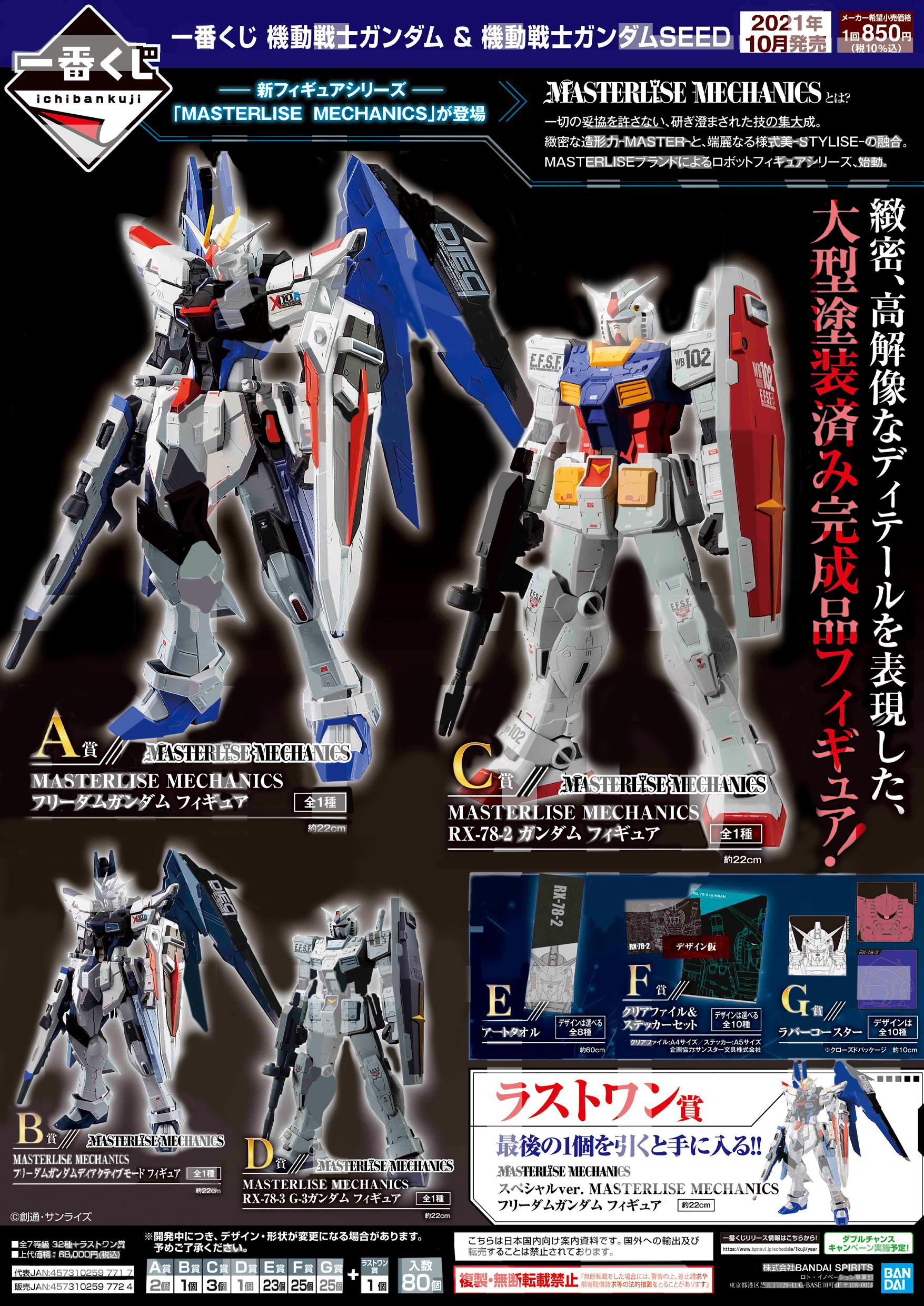 Banpresto Ichiban Kuji: Mobile Suit Gundam & Mobile Suit Gundam Seed **PRE-ORDER**