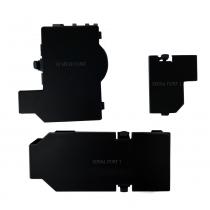 Gamecube Console Bottom Doors - Black