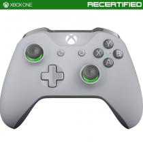 Xbox One Gray/Green Wireless Controller - Refurbished
