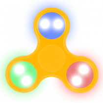 LED Fidget Spinner (ORANGE)