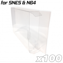 Game Box Protective Sleeve For N64 & SNES (100x)
