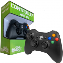 Wireless Controller for XBox 360 - BLACK (SINGLES)